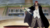 Shanks desvainando su sable