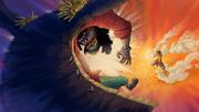 Luffy Uses Jet Pistol on Blackbeard