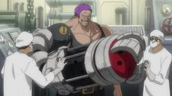 Zephyr obtenant son arme Smasher