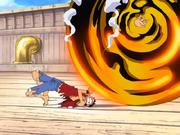 Episode 184 Luffy terjebak dalam bola emas
