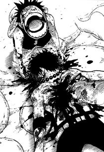 Kematian Berdarah Ace di Manga