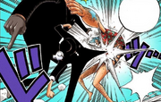 Lucci is attacking Franky