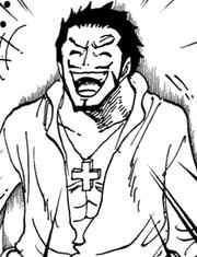 Mihawk sorrindo
