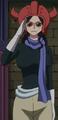 Robin disfrazada como miembro de la Familia Donquixote