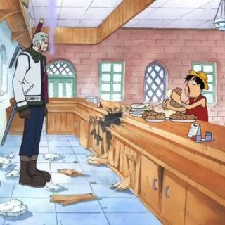 Luffy erkennt Smoker nicht sofort.