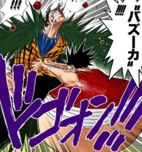 Luffy golpea a Crocodile con su Bazooka