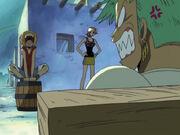 Luffy lacht schon über den Streit, Zoro schäumt noch immer