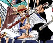 Rozdział 70 Luffy w kimono z kataną