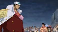 Sakazuki provoca a Ace
