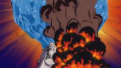 Sakazuki scioglie un iceberg