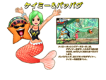 Keimi and Pappug en Super Grand Battle! X