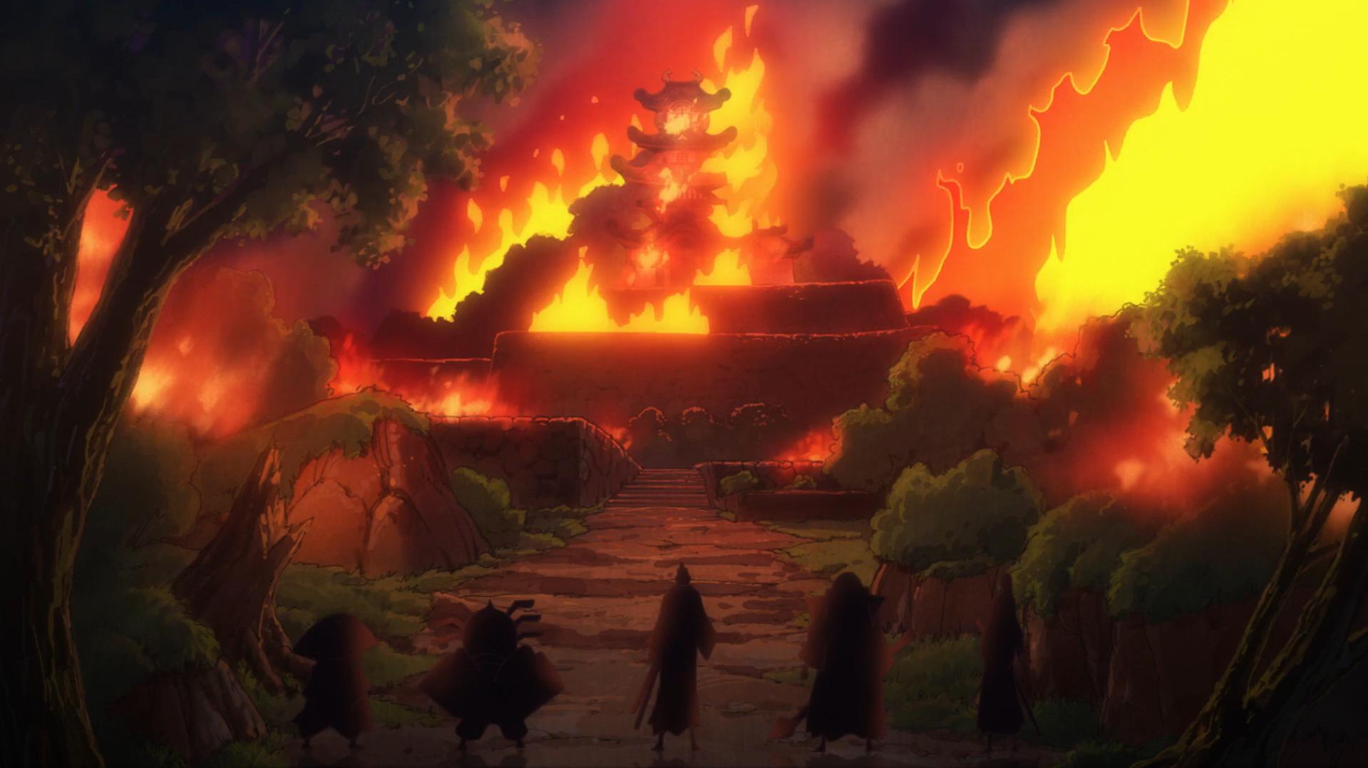 Image - Oden Castle Burning.png | One Piece Wiki | FANDOM ...