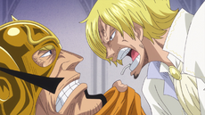 Sanji discute con Judge