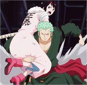 Tashigi and Zoro-0