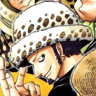 I capelli di Law nel manga