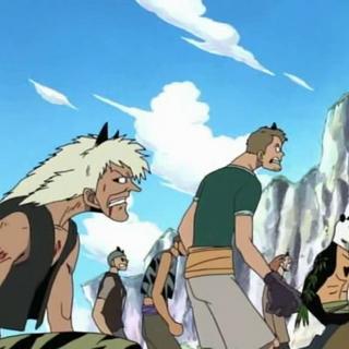 Pandaman tra i membri della ciurma di Kuro