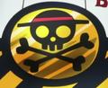Símbolo de los de Sombrero de Paja en el Franky Shogun