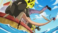 Luffy derrota a Krieg