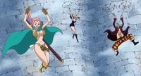 Bartolomeo, Rebecca et Robin volent