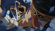Luffy derrota a Bellamy 2