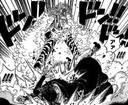 Doflamingo dispara a Law