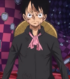 Luffy Without Jacket in Totto Land