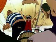 Première apparition de Luffy