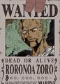 Roronoa Zoro Avis de Recherche Post Alabasta