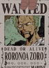 Zoro's Wanted Poster Ep.152