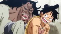 Caribou suplica a Luffy
