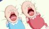 Chiffon et Laura bébés