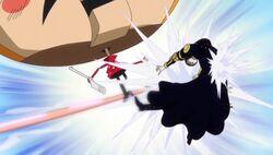 Gladius vs Luffy Anime