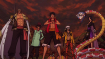 Luffy, Law, Smoker, Sabo and Hancock United