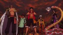Luffy, Law, Smoker, Sabo and Hancock United