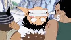 Luffy Scolds Black Cat Pirates