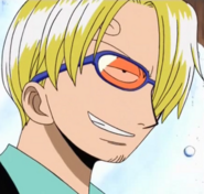 Sanji with glasses