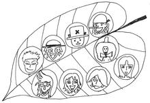 Les Mugiwara dessiné par Yuriko Yamaguchi
