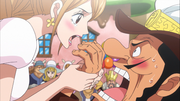 Pudding Holds Choco Police's Hands