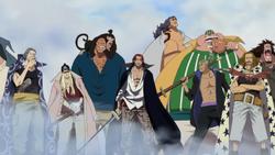 I Pirati del Rosso a Marineford