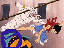 Luffy chuta Enel