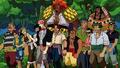 La tripulación de El Drago y Usopp