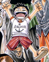 Luffy's Childhood Appearance's Color Scheme in the Manga