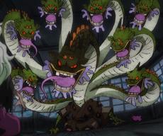 Orochi en su forma de Yamata-no-Orochi