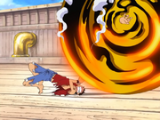 Episode 184 Luffy gets hand stuck in golden ball