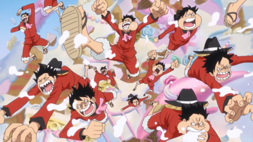 File:Luffy and Duplicates Emerge from Wedding Cake.png
