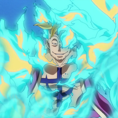 Il controllo di Marco sulle fiamme blu della rigenerazione