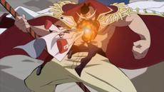 Akainu atacando a Shirohige