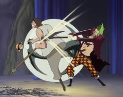 Bartolomeo protegge Rufy