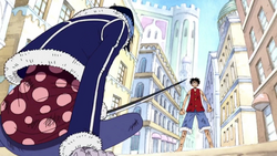Luffy Asks Tashigi's Help