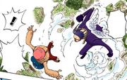 Столкновение Гэдацу и Чоппера в воздухе